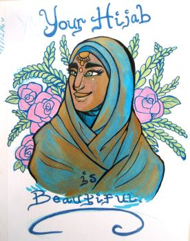 'Your Hijab is beautiful' by Worldofwarcraftvamp