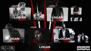 Logan Noir (2017) Folder Icon Pack by Bl4CKSL4YER