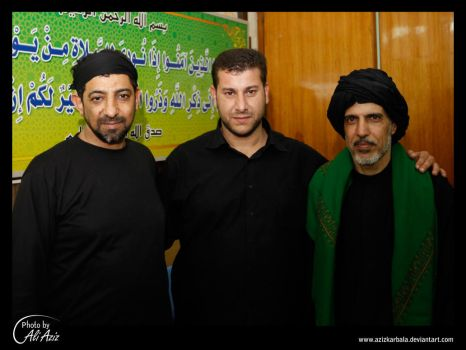 Abo Gaweb and Al Hlwagy and me by azizkarbala