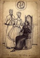 The Founders of Merlin College, sketch by Sigune