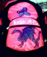 pink backpack dragon by KenshinKyo