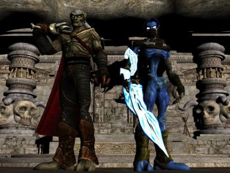 Kain and Raziel (From Legacy of Kain) for XPS/XNA! by Jorn-K-Nightmane