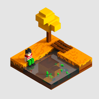 Voxel Art : Calm day by khoerulvoxel