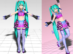 [Dreamy Theater] VAPORWAVE Miku 2017 ver. [WIP] by PiettraMarinetta