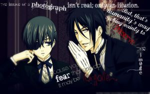 Black Butler Photo Edit by muffins-r-us
