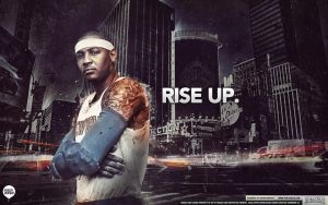 Carmelo Anthony - Rise Up Wallpaper by IshaanMishra