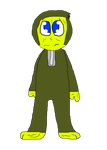 [D] Alex-Slime in his onesie/PJ's by Spongecat1