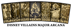 Cards - Disney Villains Major Arcana by SouthParkTaoist