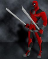Deadpool Painting Practice by datamouse