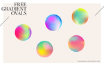 Gradient Ovals [ Free Vector ] by MunaNazzal