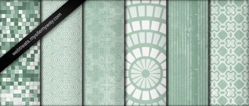 Cool Mint Green Grunge Pattern by WebTreatsETC