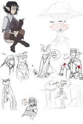 Dnd Doodles 1 by Syndrops