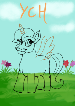 cute pony YCH  slots open!!! by lupalapa