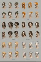 Hairstyle concept art by telthona