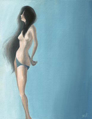 Teal Nude by zacharyknoles