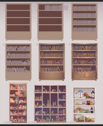 How to draw a Bookshelf by kawacy