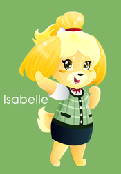 Isabelle - Animal Crossing by MissIllustrative