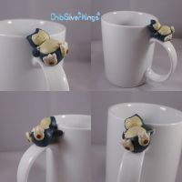 Snorlax Mug the Second by ChibiSilverWings
