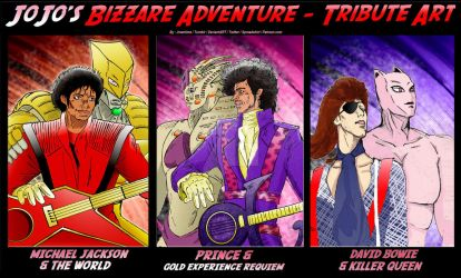 Jojos Bizarre Adventure Tribute Art - The 80's by jmantime-is-Here