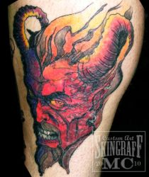 Demon Head Coverup by Green-Jet