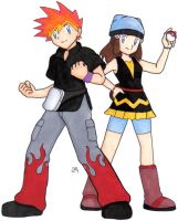 Pokemon- Blaze and Aria by MoonWhing