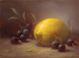 Lemons with Grapes by PaulAbrams