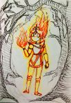 Flame Princess (Inktober 7) by Firefly-8