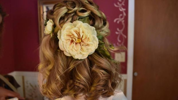 Medieval Wedding Hairstyle with Flower Crown by ClassyNerd16
