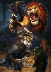 Fight with Chimera by Kahito-Slydeft