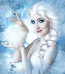 Frozen Elsa - Animated Snowfall by Jassy2012