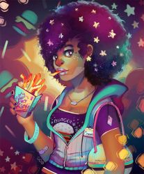 Starry eyes and french fries by GDBee
