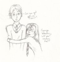 George Weasley and Me by peintre-de-vie