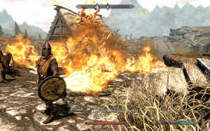 Skyrim: Must be one heck of a grin by RustyRaccoon