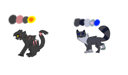 Yellowing and Cinderpelt by raptorshield