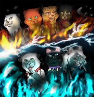 Lionclan against Bloodclan by BabyJ13