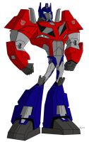 Animated Optimus Prime-Prime Cybertronian Mode by TylerMirage