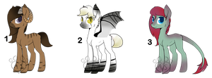 Pony Adopts #3 15pts Each (CLOSED) by Adoptables-station