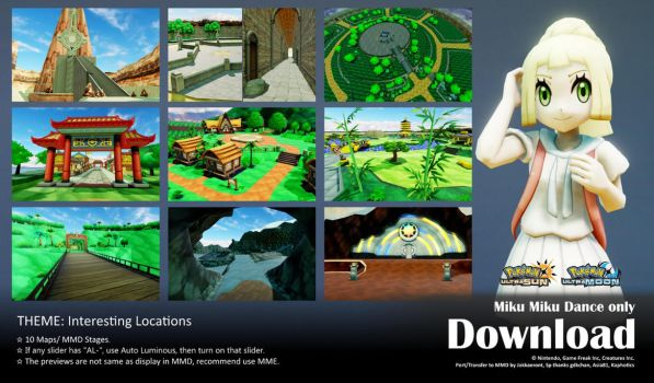 MMD Pokemon 2017 Stage Pack2 DL by Jakkaeront