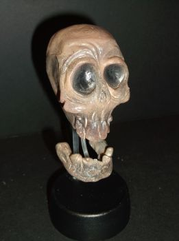 Skull with jointed jaw 1 by Fueldoc