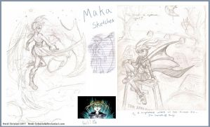 Some More Soul Eater Sketches - Maka by Heidi-Celestial