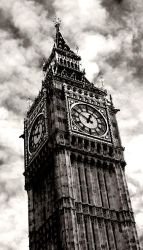 Big Ben Black and White by Zap228
