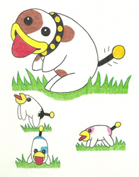 Poochy and the Pups by Melon88