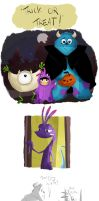 trick or treat monsters inc by coffeebandit