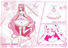 Pluffy Bunny  collab adoptable closed (RARE) by AS-Adoptables