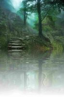 Pre-Made BG The Hidden Cottage By The Lake 02 By B by scryer41