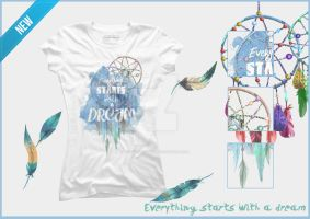 Tshirt Everything starts with a dream