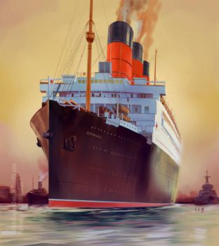 RMS Berengaria Study by TwoStripTechnicolor