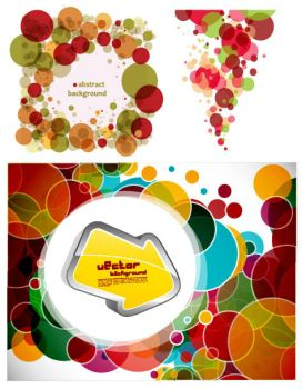 Circle Colorful Vector background by vectorbackgrounds