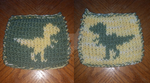 Dino Double Knit Coaster by Schorchingskys