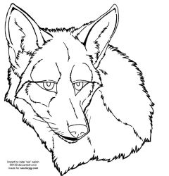 Coyote Face Free Lineart by forumroleplay